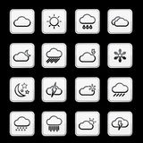 Weather app icon set. Vector Royalty Free Stock Photos