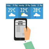 Weather app technology icon Royalty Free Stock Photos
