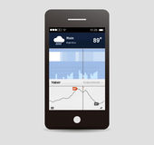 Weather app ui Royalty Free Stock Photography