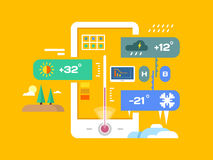Weather application Stock Images