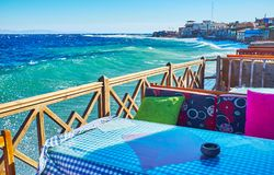 The weather at Aqaba Gulf, Dahab, Sinai, Egypt Royalty Free Stock Image