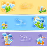 Weather background banners set Stock Image