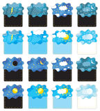 Weather banners /day night / vector Royalty Free Stock Photography
