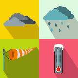Weather banners set, flat style Stock Photos