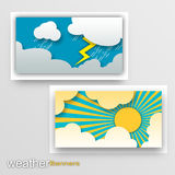 Weather Banners Stock Photography