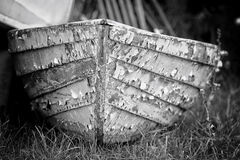 A weather beaten row boat Royalty Free Stock Photos