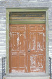 Weather beaten wooden doors, Eastern Shore, MD Royalty Free Stock Photos
