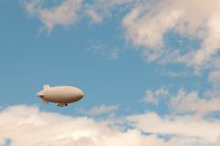 Weather blimp in the sky. Weather blimp in southwestern United States stock images