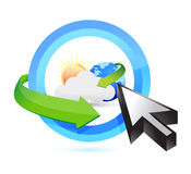 Weather button and cursor illustration design Stock Image
