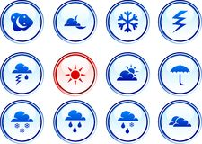 Weather  buttons. Royalty Free Stock Photo
