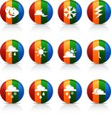 Weather  buttons. Stock Photography