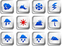 Weather  buttons. Stock Image
