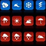 Weather  buttons. Weather  button set. Weather illustration Stock Photos