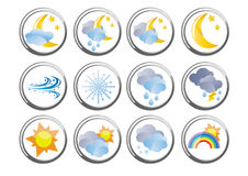 Weather buttons Royalty Free Stock Photo