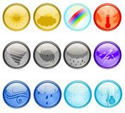 Weather Buttons Royalty Free Stock Photos