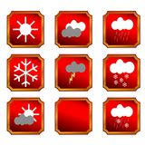 Weather buttons Royalty Free Stock Image