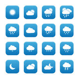 Weather buttons Stock Images