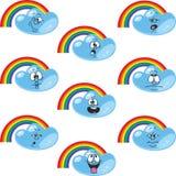 Weather cartoon rainbow set 002. Vector. Weather cartoon rainbow set 002 Stock Images