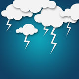 Weather cartoon Stock Photography
