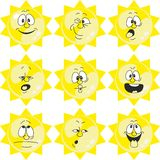 Weather cartoon sun set 005. Vector. Weather cartoon sun set 005 Stock Image