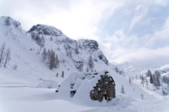 Weather is changing quickly in the mountains, especially during winter Royalty Free Stock Images