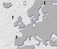 Weather chart Royalty Free Stock Photos