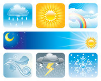 Weather and Climate. Set of Weather and Climate, vector illustration layered Stock Image