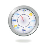 Weather clock,  illustration. Stock Photography