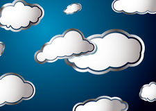 Weather cloud Royalty Free Stock Photos