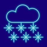 Weather. Clouds and snowflakes Stock Photography