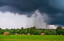 Weather with clouds, a thunder storm Royalty Free Stock Photo
