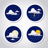 Weather coins Stock Photography