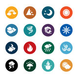 Weather Color Icons Stock Images