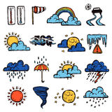 Weather Color Set Stock Photography