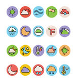 Weather Colored Vector Icons 5 Stock Photos