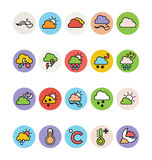 Weather Colored Vector Icons 1 Stock Images