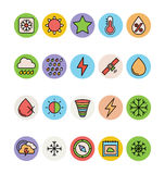Weather Colored Vector Icons 4 Stock Photo