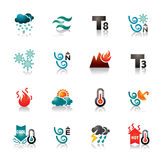 Weather Colorful Icons Stock Photography