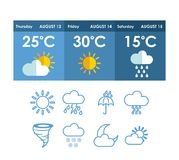 Weather concept. Design, vector illustration eps10 graphic Royalty Free Stock Image