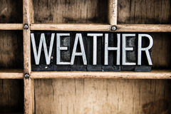 Weather Concept Metal Letterpress Word in Drawer Royalty Free Stock Image
