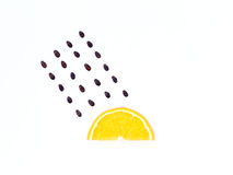 Weather concept, orange shape of rainy season. part of a weather Stock Photos