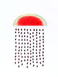 Weather concept, watermelon shape of rainy season. part of a wea Royalty Free Stock Photography