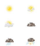 Weather condition icons Royalty Free Stock Image