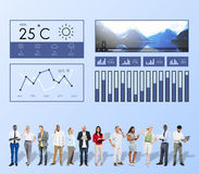 Weather Condition News Report Climate Forecasting Meteorology Te. Mperature Concept Royalty Free Stock Images