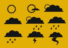 Weather condition symbols Stock Photography