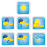 Weather conditions. Group of weather conditions icons  eps10 graphic Stock Image