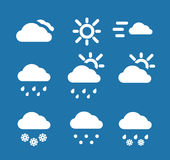 Weather conditon icons Royalty Free Stock Images