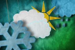 Weather decorations Stock Photo