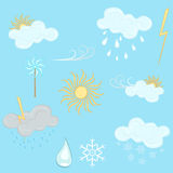 Weather design elements Royalty Free Stock Image