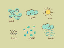 Weather design elements Stock Photos
